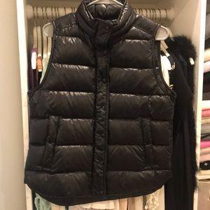 J.crew black shiny puffer vest